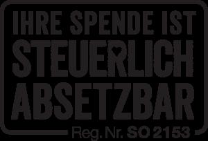 Spendenabsetzbarkeit Reg.Nr. SO2153